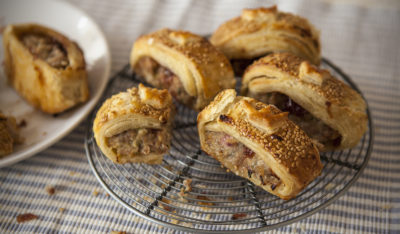 sausage rolls Christmas party